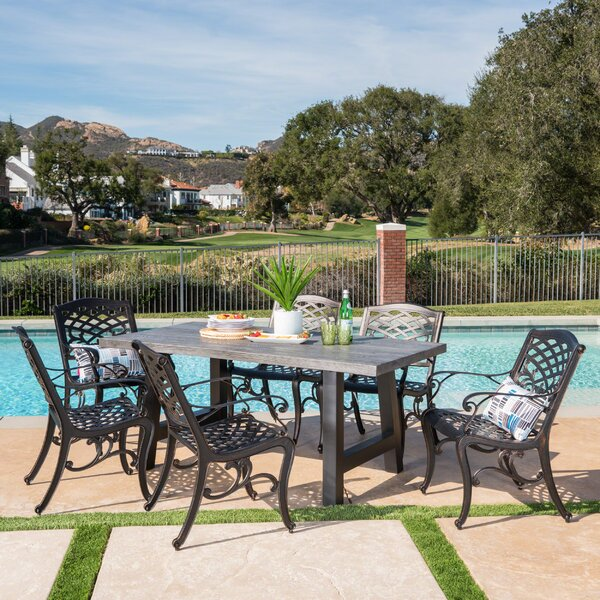 Desmond Outdoor 7 Piece Dining Set by Darby Home Co
