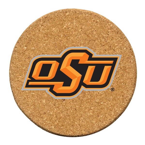 Oklahoma State University Cork Collegiate Coaster Set (Set of 6) by Thirstystone
