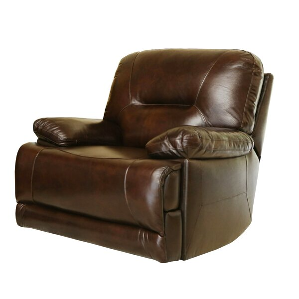 Bartlet Leather Power Recliner by Darby Home Co