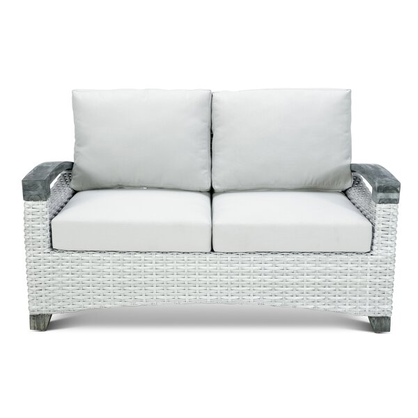 Hollins Outdoor Loveseat with Cushions by Highland Dunes