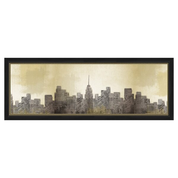 New York at Dawn Framed Graphic Art by PTM