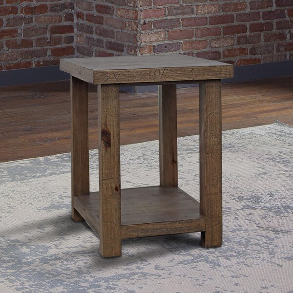 Seifert Solid Wood End Table with Storage by Foundry Select Foundry Select