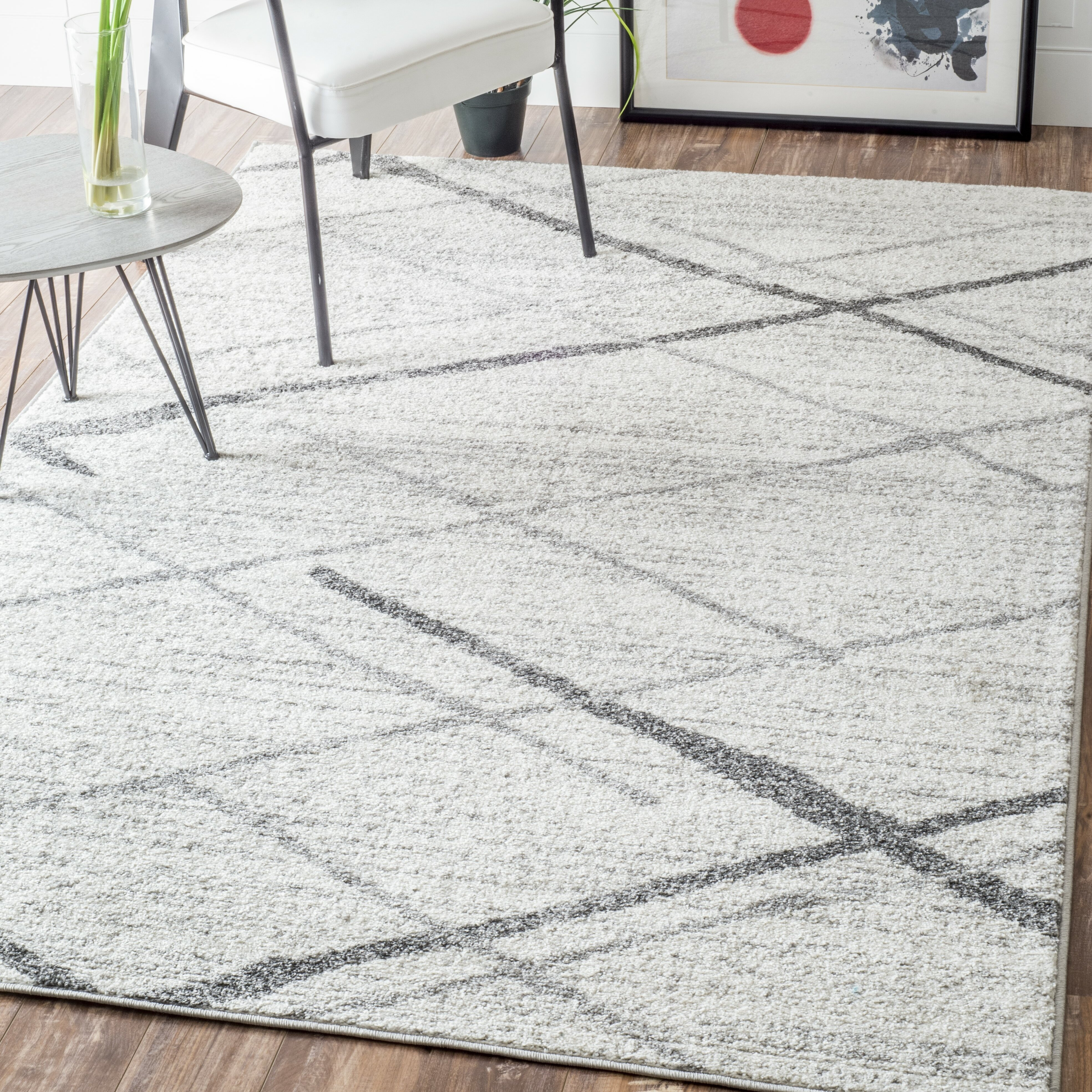 gray albert dash pearl and design rug herringbone vintage rugs white grey