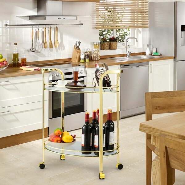 Palmieri Serving Kitchen Bar Cart by Everly Quinn Everly Quinn