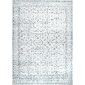 Navarrete Ivory & Cream/Blue Area Rug