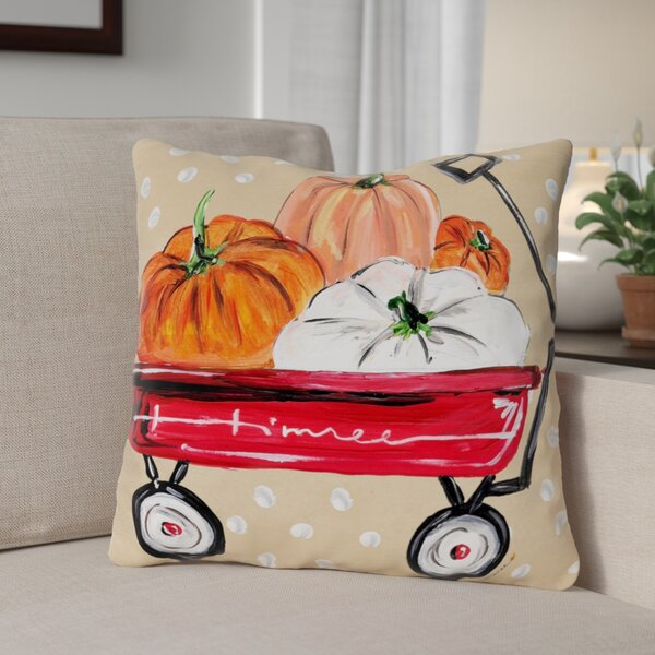 Fall Wagon Throw Pillow by The Holiday Aisle| @ $34.99