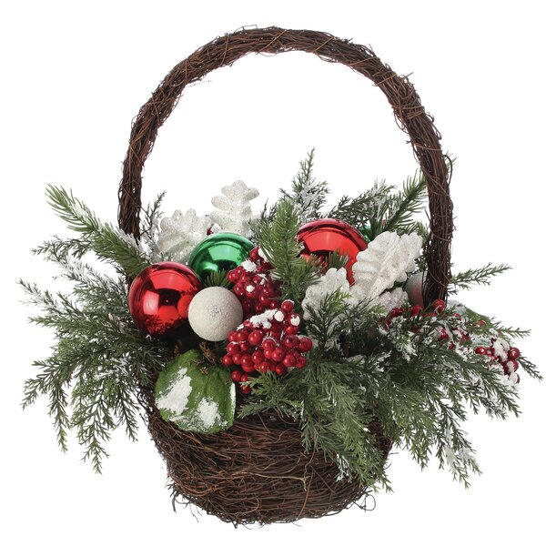 Floral Arrangement in Basket by The Holiday Aisle