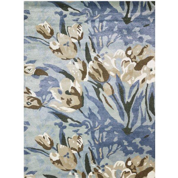 Edjamboya Hand-Tufted Blue/Gray Area Rug by Ebern Designs