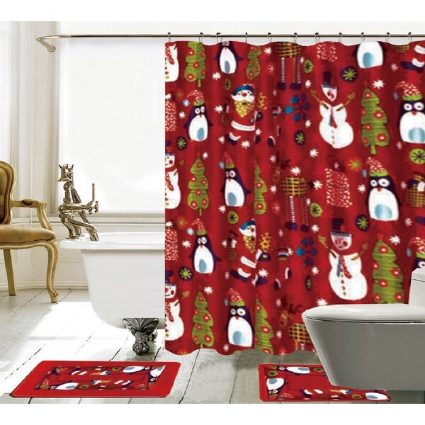 15 Piece Christmas Shower Curtain Set by The Holiday Aisle