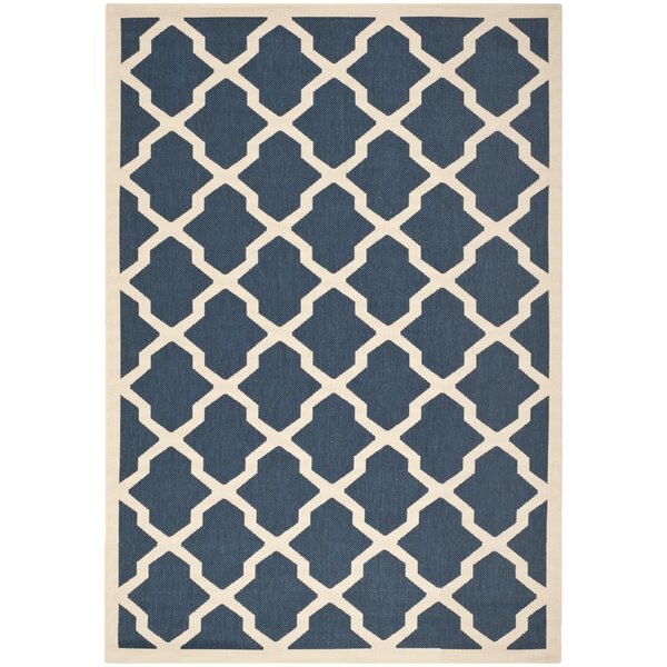 Short Blue Outdoor Area Rug by Winston Porter