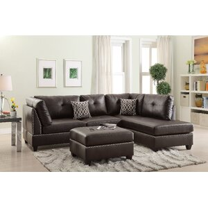 Bobkona Viola Reversible Sectional by Poundex