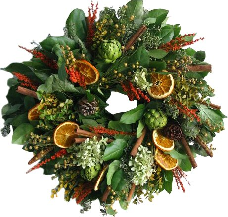 18 Citrus and Artichoke Wreath by From the Garden