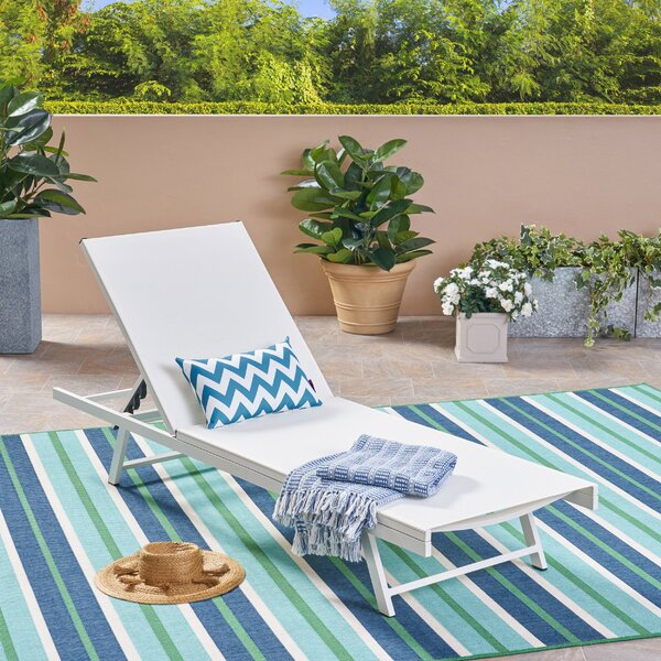 Emrich Outdoor Reclining Chaise Lounge by Orren Ellis