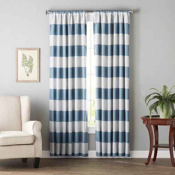 Jaqueline Striped Room Darkening Thermal Rod Pocket Curtain Panels (Set of 2) by Birch Lane Kids™
