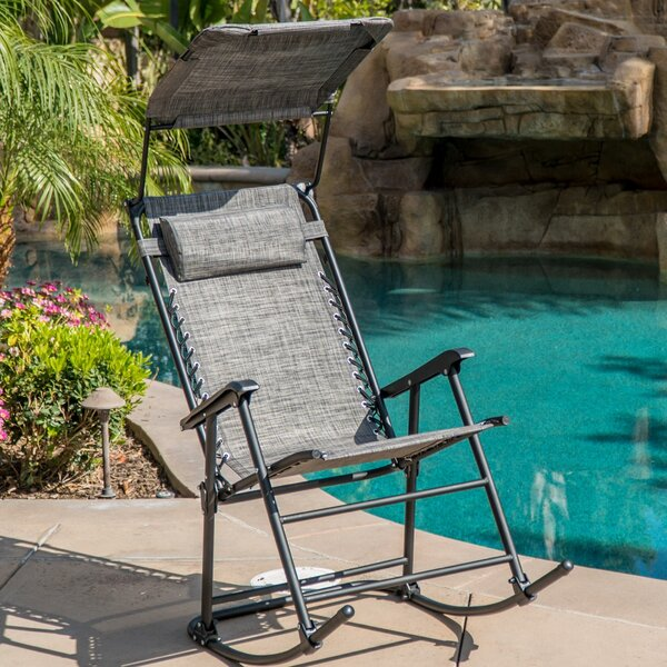 Hadley Shade Block Folding Rocking Chair by Freeport Park