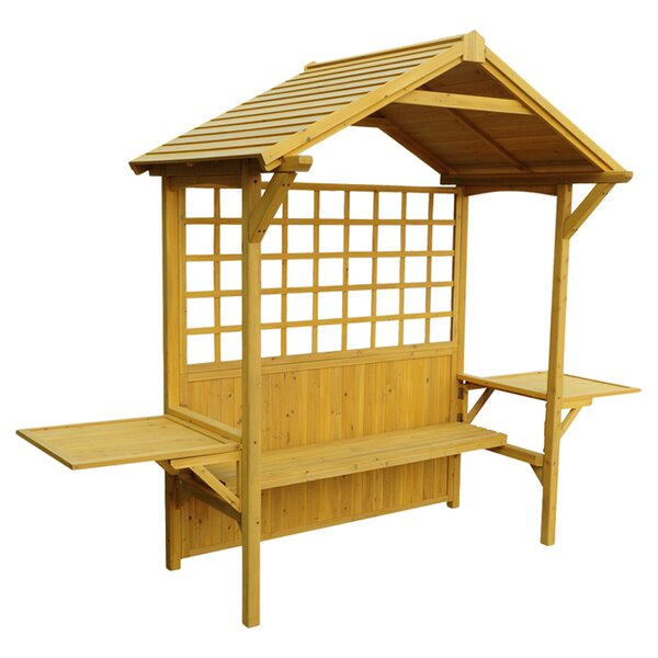 2 in 1 Seated Party Wood Arbor by Leisure Season