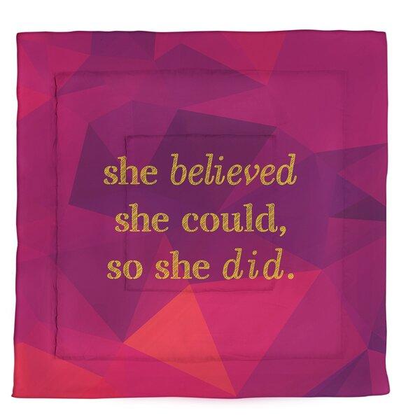 Women Empowerment Quote Single Reversible Comforter