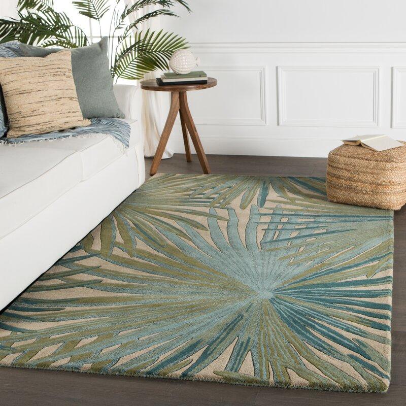 Bay Isle Home Arsos Hand Tufted Wool Green Area Rug Reviews Wayfair Ca