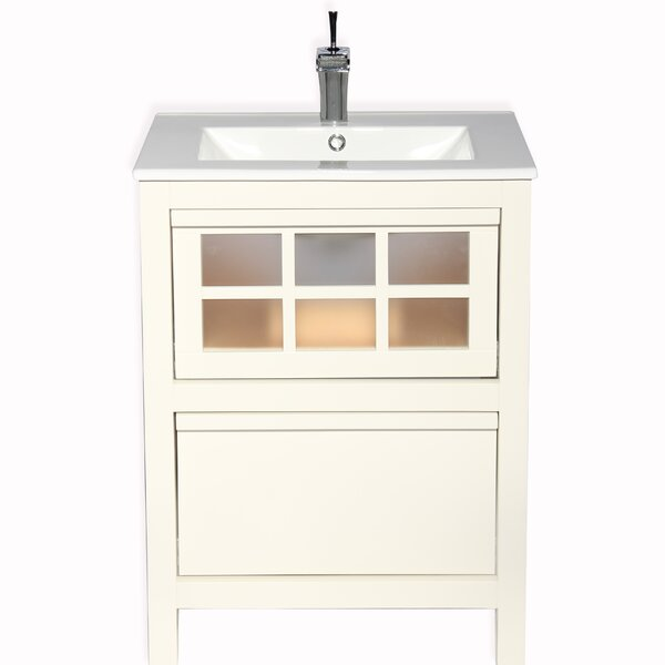 Aztec Modern 24 Single Bathroom Vanity Set by Bloomsbury Market