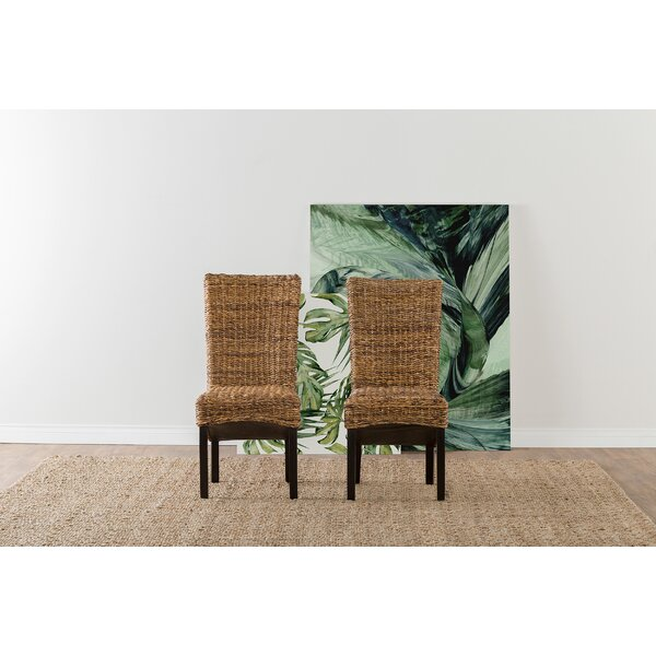 Anaya Dining Chair In Rattan Abaca (Set Of 2) By Beachcrest Home