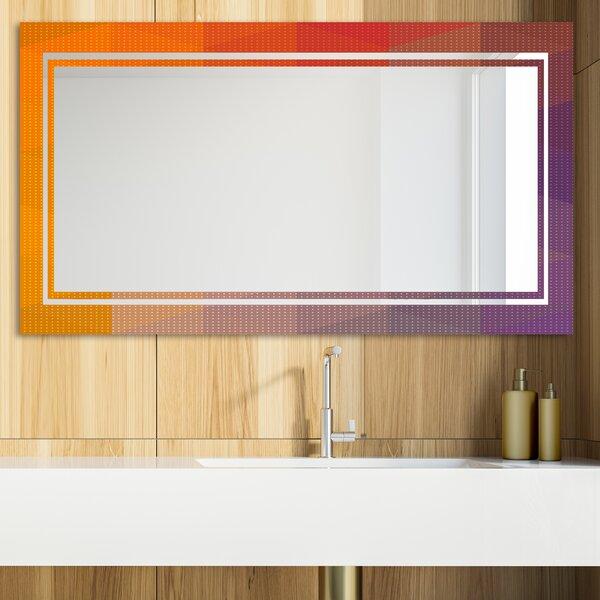 Dotted Geometry Glam Vanity Mirror
