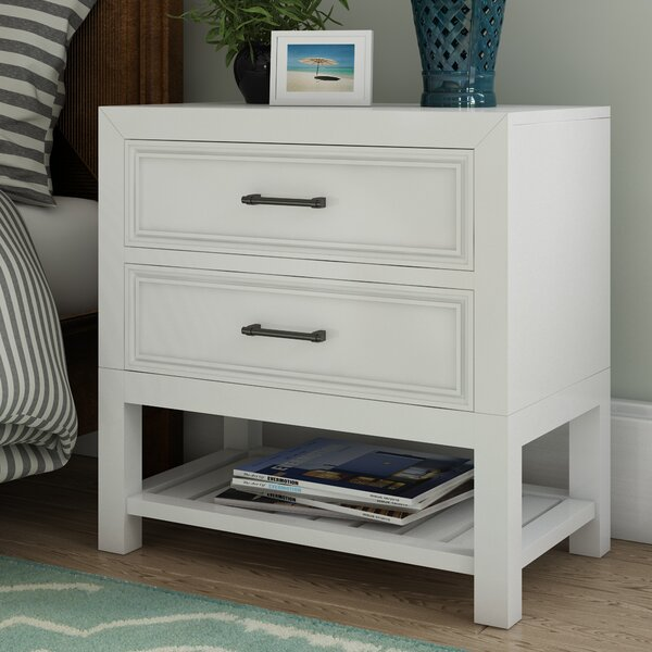 Elosie 2 Drawer Nightstand By Beachcrest Home by Beachcrest Home Design