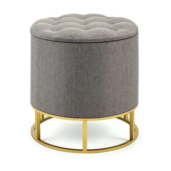 Enjoyable Tufted Ottoman Metal Base Wayfair Evergreenethics Interior Chair Design Evergreenethicsorg