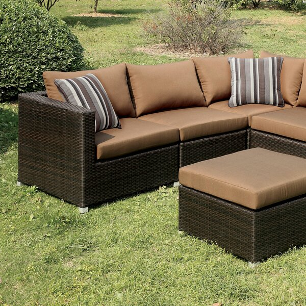 Heidi  3 Piece Rattan Sectional Seating Group with Cushions by A&J Homes Studio