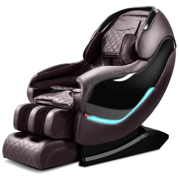RL900 3D Sl-Track Reclining Adjustable Width Heated Full Body Massage Chair By Latitude Run