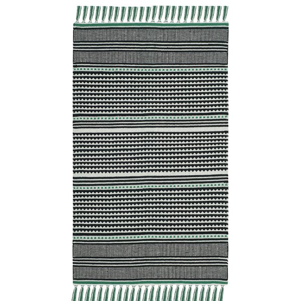 Granada Hand-Woven Teal/Gray Area Rug by Wrought Studio