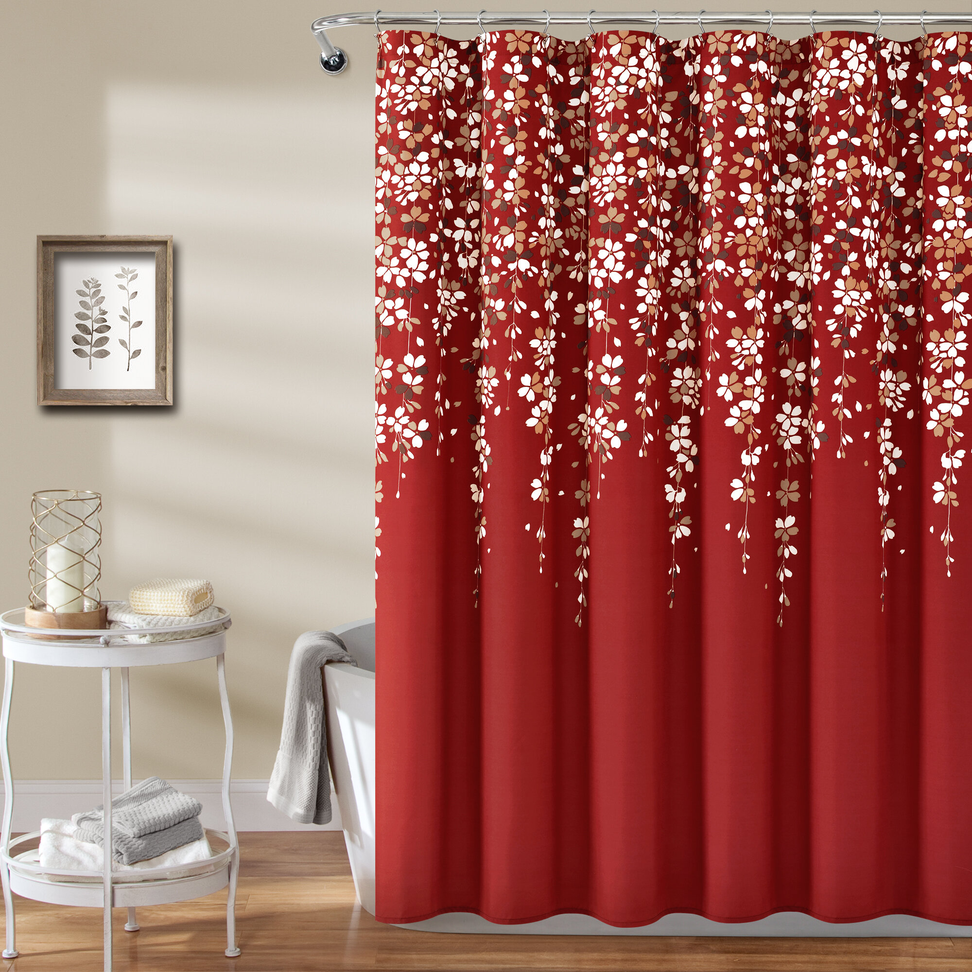 Red Shower Curtains You Ll Love In 2020 Wayfair