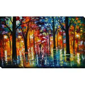 Rain of Fire by Leonid Afremov Painting Print on Wrapped Canvas by Picture Perfect International