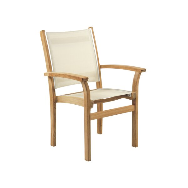 St. Tropez Stacking Teak Patio Dining Chair (Set of 4) by Kingsley Bate