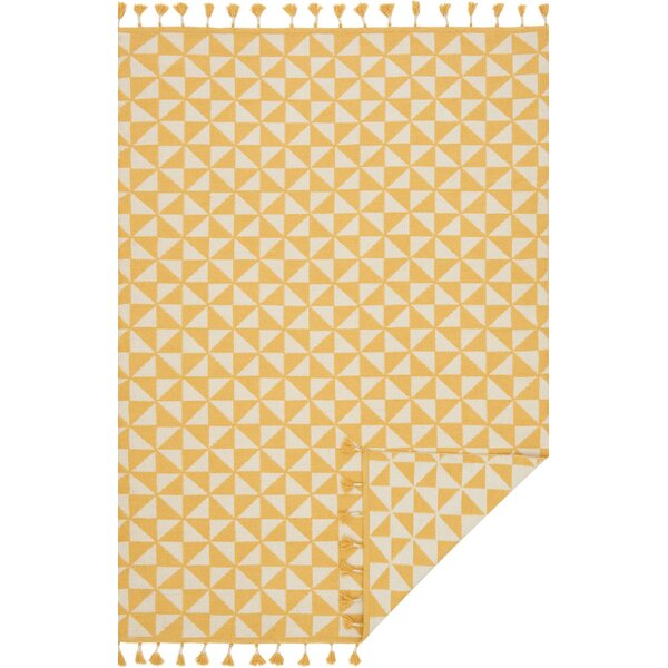 Pangburn Hand-Woven Yellow/Ivory Area Rug by Union Rustic