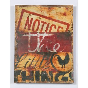 'Notice The Little Things' Graphic Art Print on Wood by Red Barrel Studio