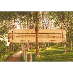 Surreal Casket in the Woods Painting Print by Buyenlarge