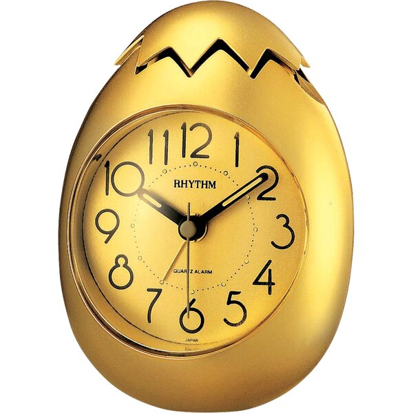 Golden Egg Alarm Clock by Rhythm U.S.A Inc