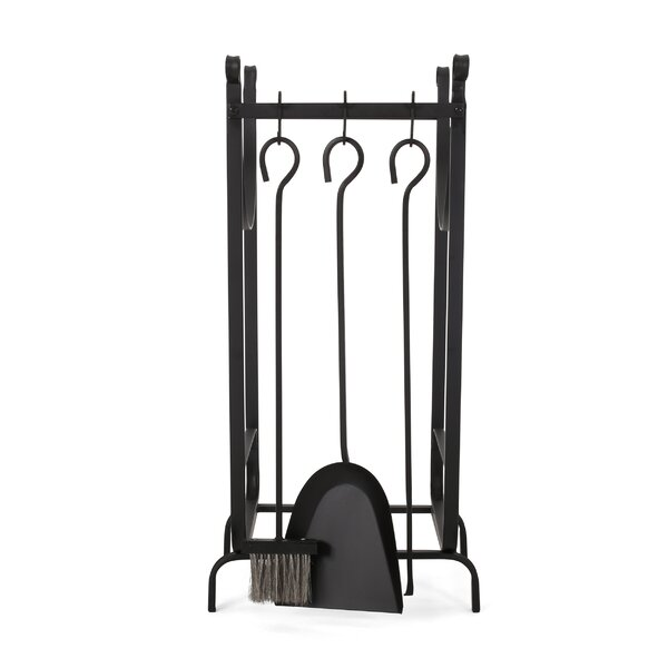Gaston 4 Piece Iron Tool Set By Home Loft Concepts