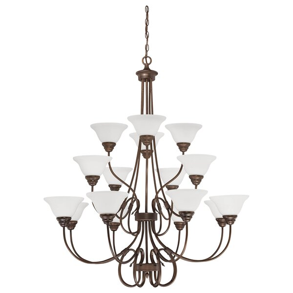 Lana 16-Light Shaded Tiered Chandelier by Charlton Home Charlton Home