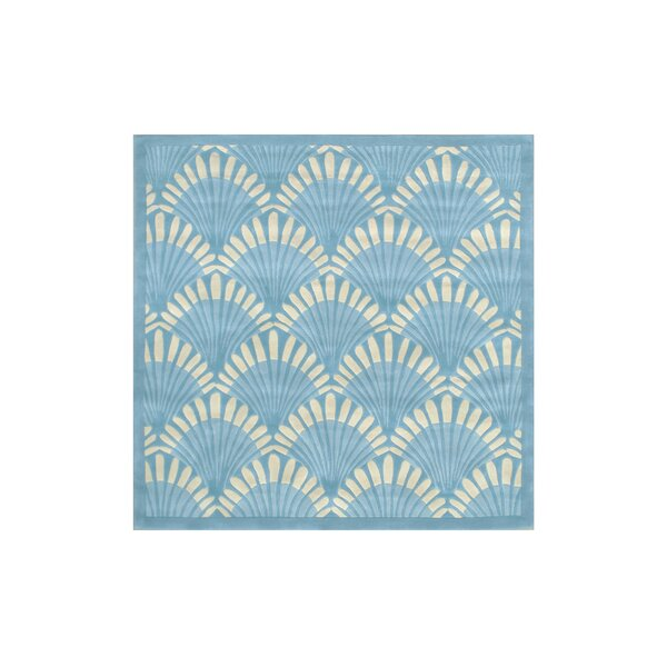 Aalin Hand-Tufted Teal Area Rug by Everly Quinn