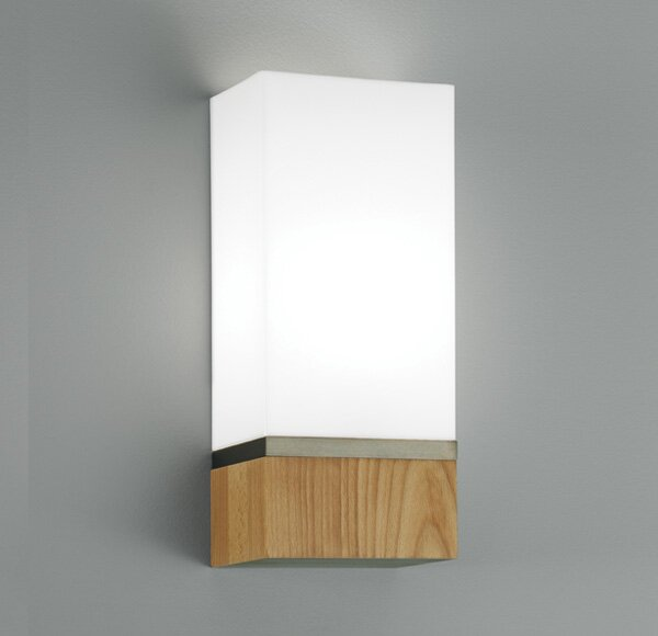 Cube 1-Light Wide Wall Sconce by ILEX Lighting