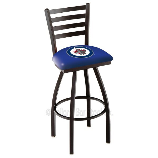 NHL Adjustable Height Swivel Bar Stool by Holland Bar Stool