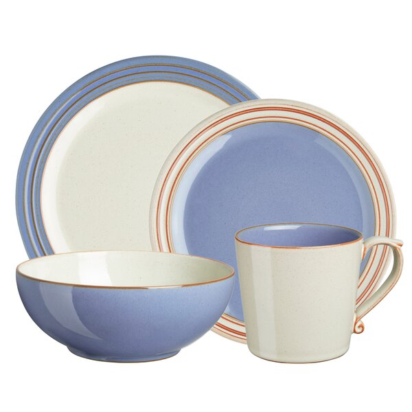 Heritage Fountain 4 Piece Place Setting, Service for 1 by Denby
