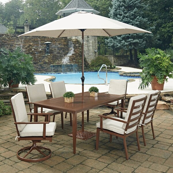 Key West 9 Piece Dining Set with Cushion by Home Styles