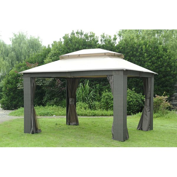 Replacement Canopy (Deluxe) for Antigua Wicker Gazebo by Sunjoy