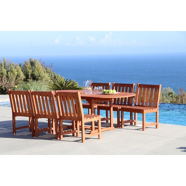 Amabel Extendable 7 Piece Dining Set by Beachcrest Home