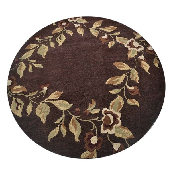 Aarav Hand-Tufted Wool Brown/Beige Area Rug by August Grove