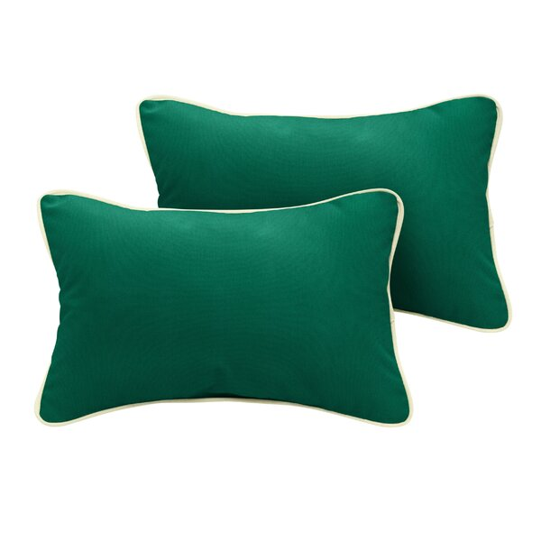 Dacey Sunbrella Forest Outdoor Lumbar Pillow (Set of 2) by Red Barrel Studio
