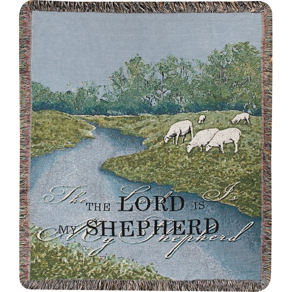 The Lord is My Shepherd Tapestry Cotton Throw by Manual Woodworkers & Weavers