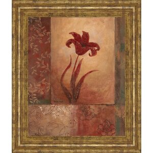 Lily Silhouette by Vivian Flasch Framed Graphic Art by Classy Art Wholesalers